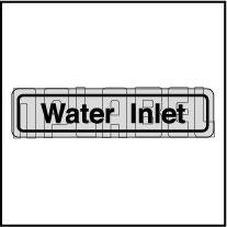 120011AS Water Inlet Sticker