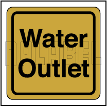 120011CG Water Outlet Stickers