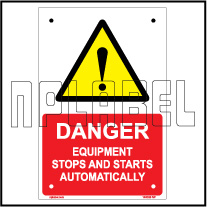 140028 Equipment Start Automatically Caution Sign