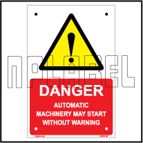 140029 Automatic Machinery Sign Machinery Plates