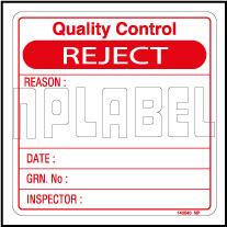 140040 Q.C. - Rejected Labels & Stickers