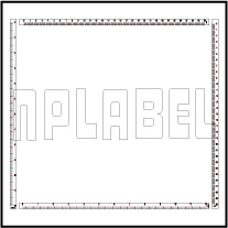 140375-78ML Measuring Scale 0-300mm / 0-12 inch