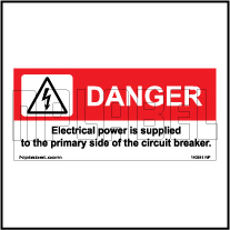 140541 Danger Electrical Power Stickers & Labels