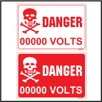142407 Danger Voltage Indication Stickers