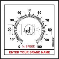 142684 Customize Potentiometer Sticker
