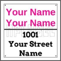 142715 Customize Name Plate