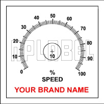 142736ML Customize Potentiometer Metal Label