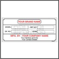 142768 Customize Data Plate