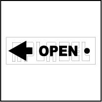142836LW - OPEN Arrow Label - Left