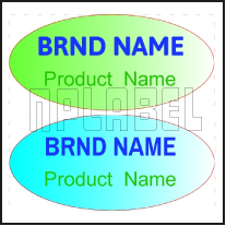 143037 Customize Oval Dome Labels