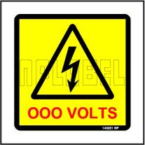 143051 Customize Voltage Sign Label
