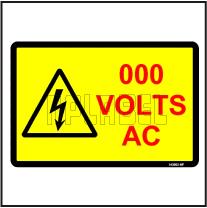 143052 Customize Voltage Sign Label