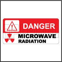 150515 Microwave Radiation Caution Labels Sticker