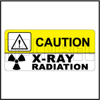 150517 X-Ray Radiation Caution Labels & Sticker