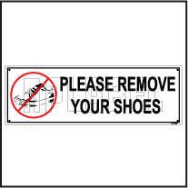 151110ML Remove Your Shoes Sign Name Plate
