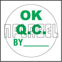 151412 Ok QC Round Sticker
