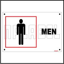 151556 Men Toilets Sign Name Plates & Signs