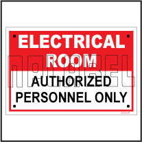 152333ML Electrical Room Sign Name Plates