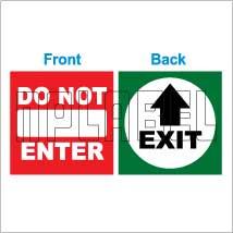 152536 Exit/Do not Enter Sticker