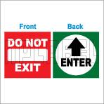 152536ML Exit/Do not Enter Sticker Label