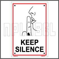 153202 Keep Silence Sign Name Plate