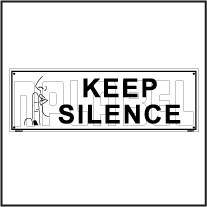 153203 Keep Silence Sign Name Plate