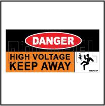 153279 DANGER High Voltage Keep Away