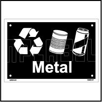 153623 Metal Waste Dustbin Label
