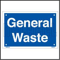 153625ML General Waste Dustbin Metal Label
