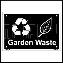 153627 Garden Waste Dustbin Label
