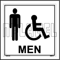 160007 Men Toilets Sign Name Plate