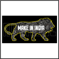 160013 Make in India Stickers