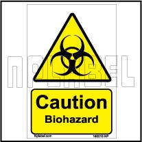 160015 CAUTION Biohazard Signs Stickers