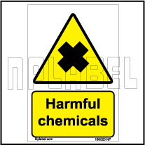 160020 Harmful Chemmicals Signs Stickers