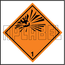 160025 Explosive Sign Stickers