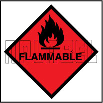 160035 Flammable Signs Stickers