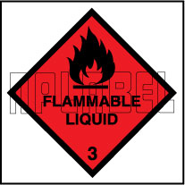 160036 Flammable Liquids Signs Stickers