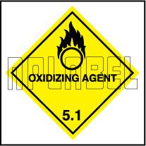 160053 OXIDIZING AGENT Sign Sticker