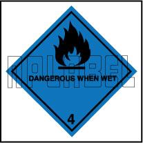 160054 DANGEROUS WHEN WET Signs Stickers