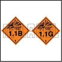160073 Explosive Sign Code Sticker 1.1