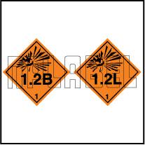 160074 Explosive Sign Code Sticker 1.2