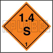 160078 Explosive Sign Code Sticker 1.4S