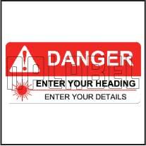 160090ML Customize Laser Radiation Metal Labels