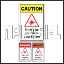 160092 Customize Laser Radiation Labels