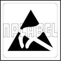 160095 Electrostatic Sign Warning Labels
