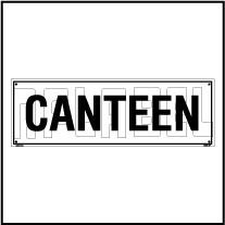 160182 Canteen Name Plate