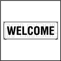 160186 Welcome Name Plate