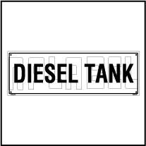 160189 DIESEL Tank Name Plate