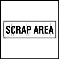 160191ML Scrap Area Name Plate