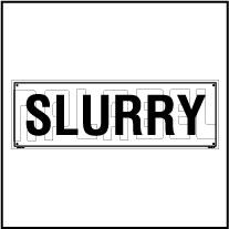 160192 Slurry area Name Plate